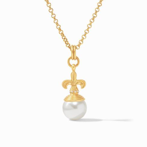$195.00 Fleur-de-Lis Pearl Pendant