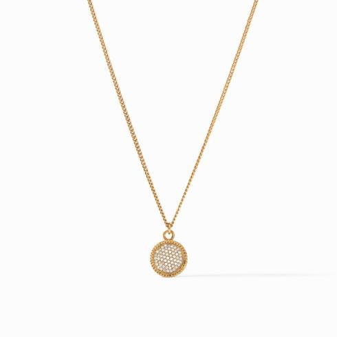 $135.00 Fleur-de-Lis Solitaire Necklace, Pave\' Cubic Zirconia
