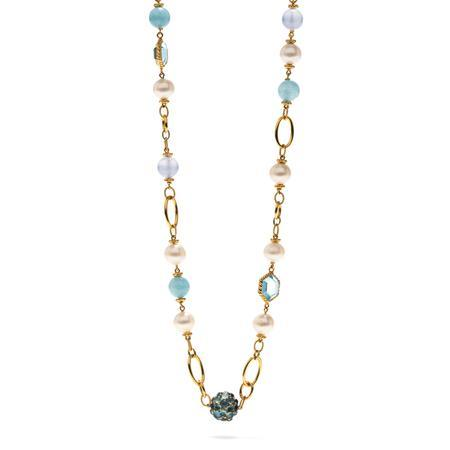 $1,395.00 Garden Bouquet Pearl Sky Necklace 18""