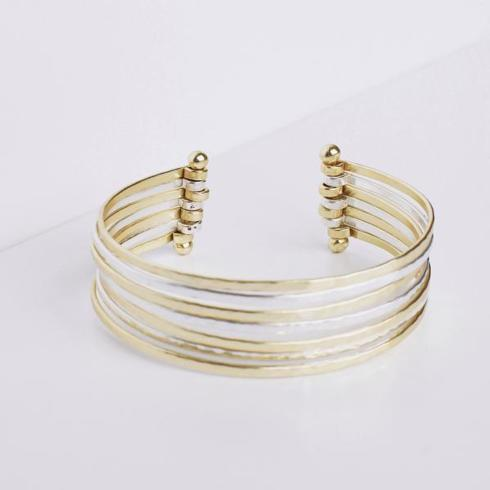 $60.95 Mixed Metal Cuff Bracelet
