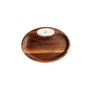 $42.00 Walnut Tidbit Dish