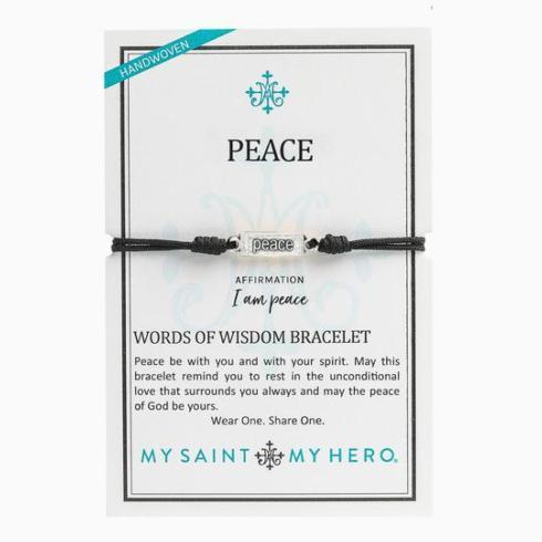 $21.00 Peace-Words of Wisdom bracelet, silver