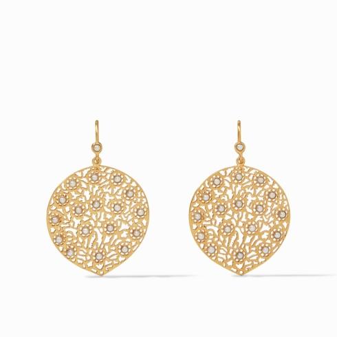 $145.00 Peacock Earring, pearl