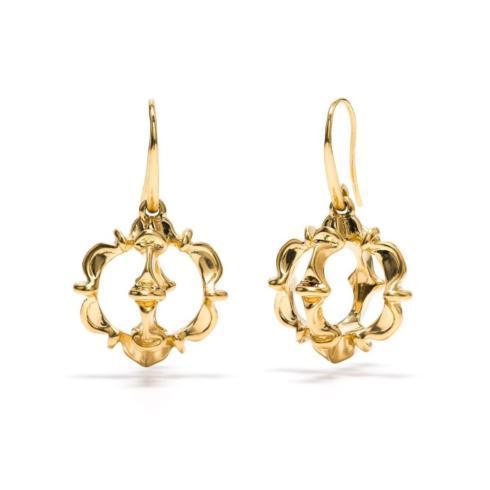 $275.00 Ruffle Urchin Earrings, Gold