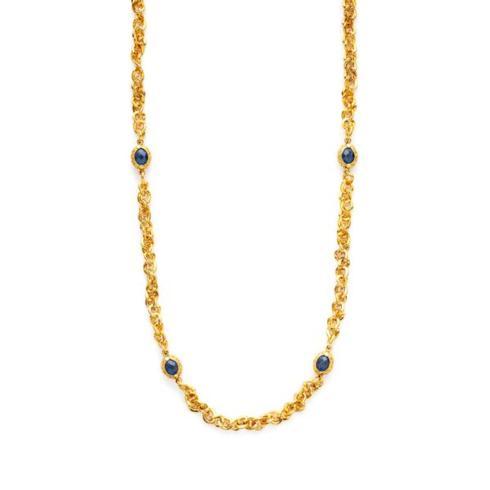$295.00 Savannah Station Necklace - Sapphire Blue