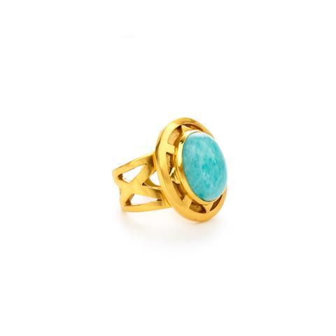 $165.00 Tivoli Ring, Amazonite