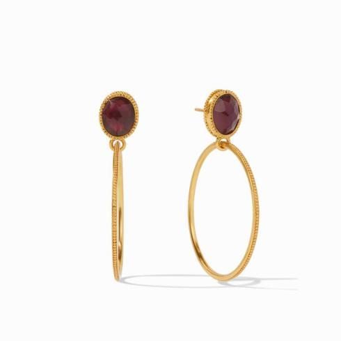 $165.00 Verona Statement Earring, Bordeaux