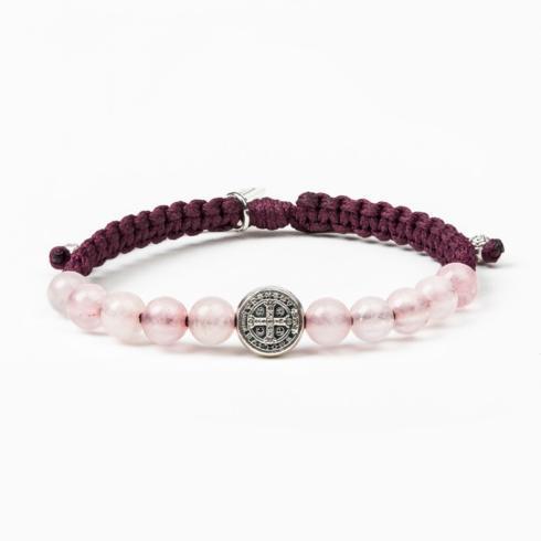 $38.50 Wake Up and Pray Meditation Bracelet, Rose Quartz