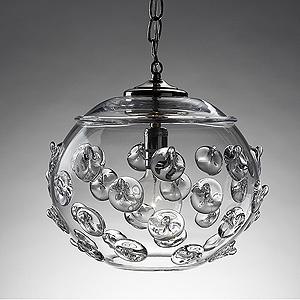 "Small Florence Globe Pendant 7.5"" H, 8"" W"