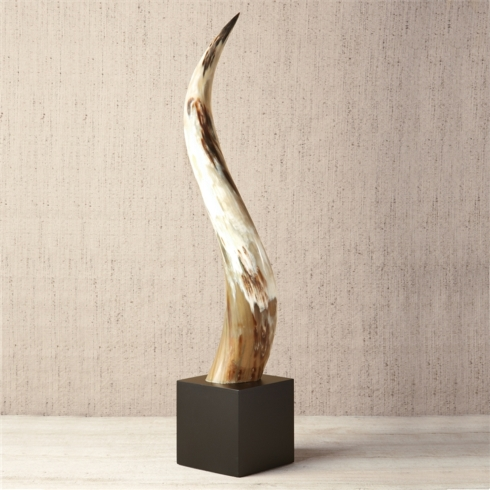 Yak Horn on Black Wood Base collection with 1 products