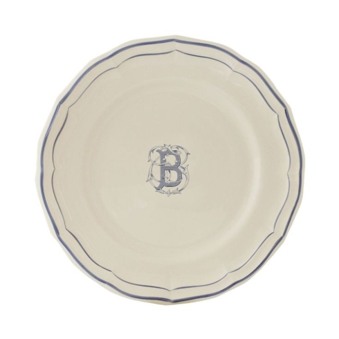 Gien Filet Bleu Monogrammed Dessert collection with 1 products