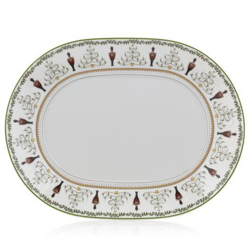 "Bernardaud   Grenadiers Oval Platter 13"" $299.00"