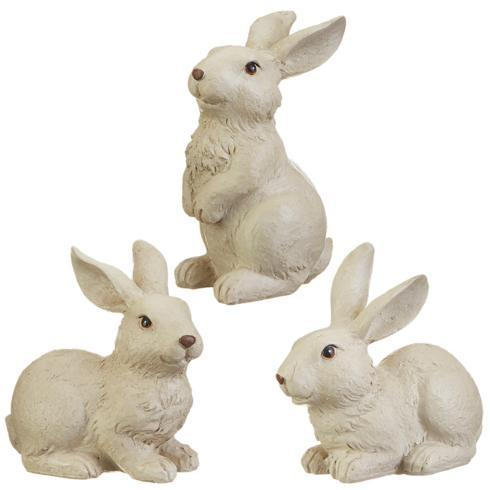 "$19.20 4.75"" Assorted Bunnies, set/3"