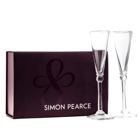 Simon Pearce  Barware and Stemware Hartland Flutes in GIft Box $150.00