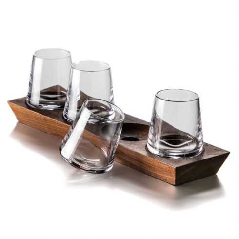 Simon Pearce  Barware and Stemware Ludlow Whiskey Set $225.00