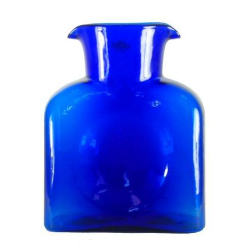 Blenko Glass Co   Water Bottle Cobalt $58.00
