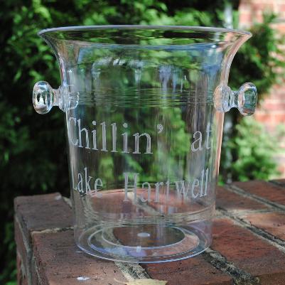 Tiger Lily   Acrylic Ice Bucket with Knob Handles $54.95