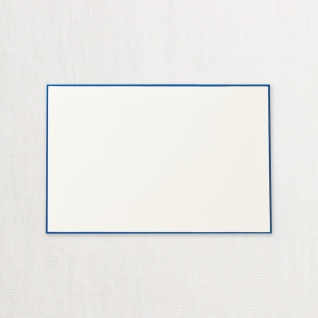 $21.95 Bordered in Regent Blue Cards on Ecru White Kid Finish Paper (10) Cards & Envelops