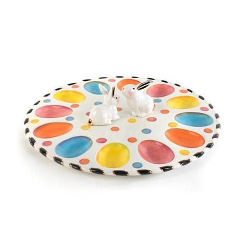 $96.60 Mackenzie-Childs Dotty Egg Plate
