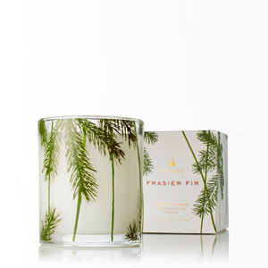$31.95 Candle with Pine Needle Glass
