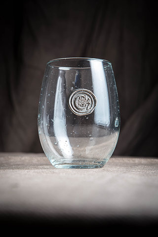 $16.95 Initialed Stemless Wine