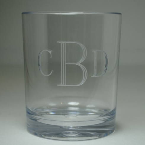 My Favorite Things Exclusives   Engraved Set of 4 Double Old Fashions $54.95