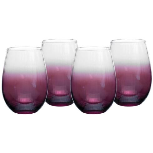 $49.95 Kingsley Stemless Wine Glass Set of Four 1685710