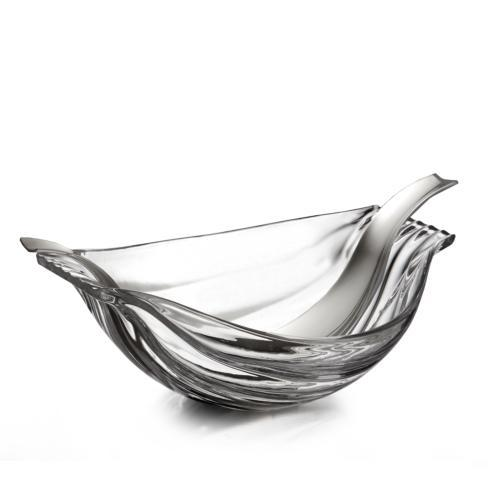 $140.00 Drift Glass Salad Bowl w/ Servers