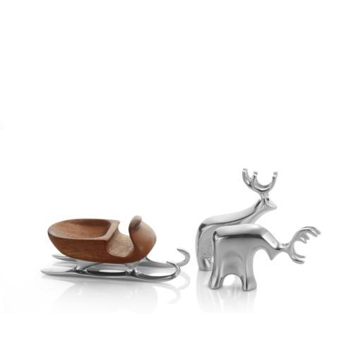 $79.00 Mini Sleigh w/ Reindeer Set