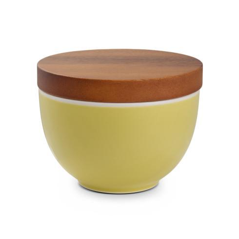 $30.00 Prism Candle Bowl w/ Lid - Citron