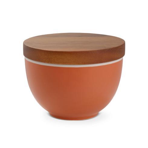 $30.00 Prism Candle Bowl w/ Lid - Persimmon