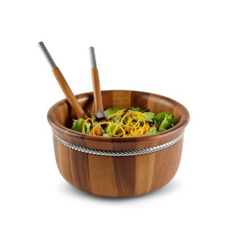 $140.00 Braid Round Salad Bowl with Servers