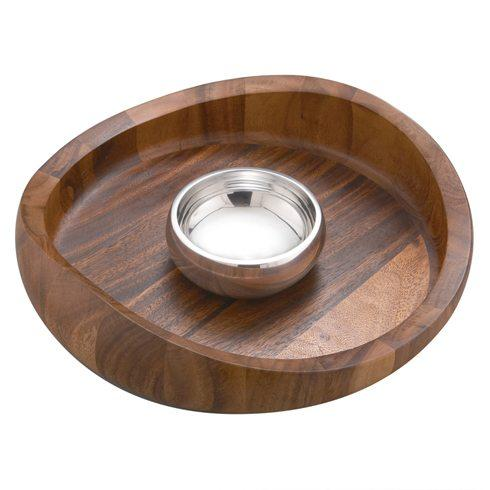 Nambe  Butterfly Bowl- Chip & Dip $175.00