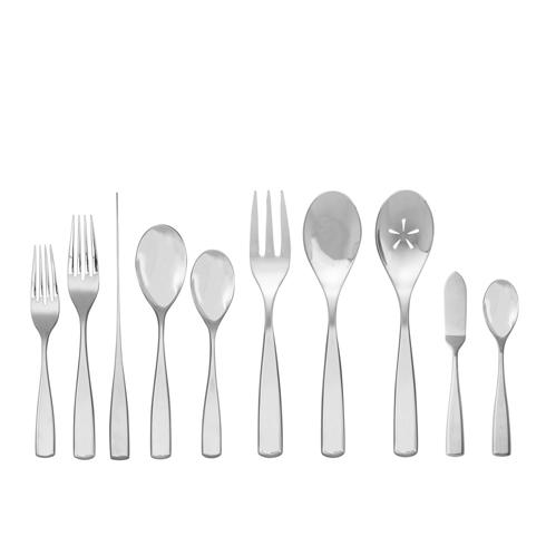 $200.00 Anna 45 Pc Set - (8-5pc. Place Settings,3pc. Serving Set, Butter Knife, & Sugar Spoon)