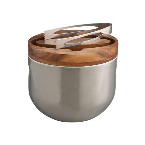 Nambe  Mikko Wood Ice Bucket $150.00