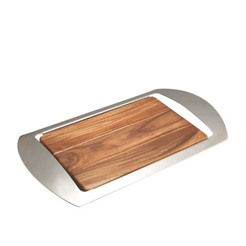 Nambe  Mikko Bar Tray - Wood/Stainless Steel $85.00