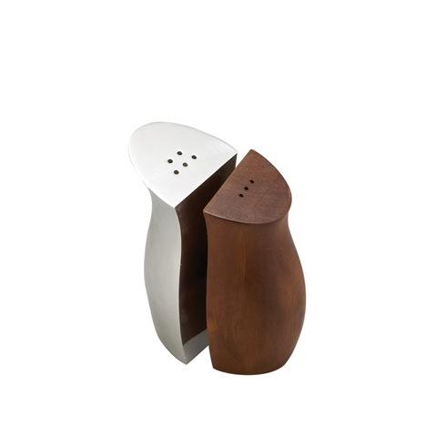 Nambe  Salt & Pepper Cradle Alloy/Wood $85.00