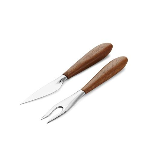 Nambe  Curvo Cheese Set - Cheese Knife & Fork $25.00