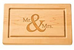 $156.00 Personalized Wood Cutting Board