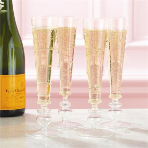Two's Company   Verre Champagne Flutes, Set of 4  $96.00