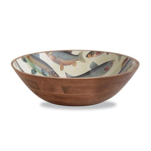 Wood & Enamel Fish Bowl collection with 1 products
