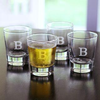 $68.00 Acrylic Set of 4 Double Old Fashioned Monogrammed