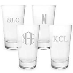 $68.00 Acrylic Set of 4 High Ball Monogrammed