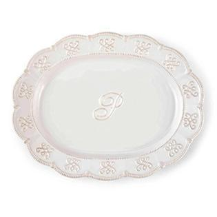 Initial Oval Platter