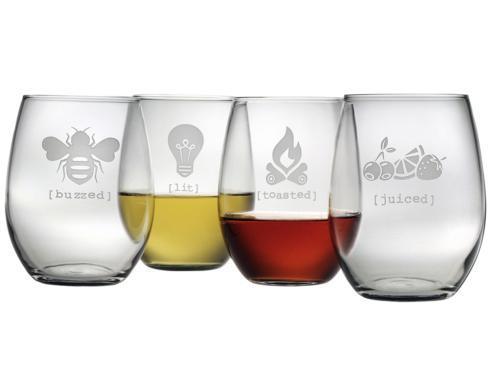 $82.00 Stemless Wine Glasses - set of 4