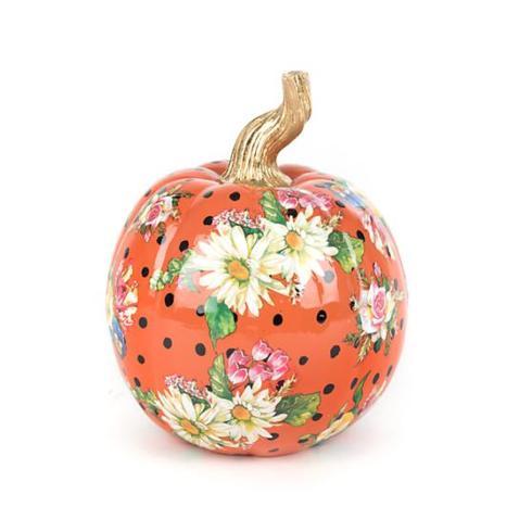 $68.00 MacKenzie-Childs Small Orange Flower Market Pumpkin