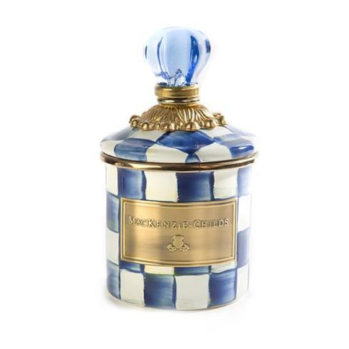 $72.00 MacKenzie-Childs Royal Check Mini Canister