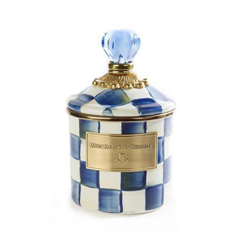 $76.00 MacKenzie-Childs Royal Check Demi Canister