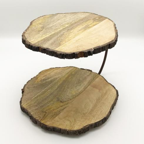 $58.00 Two Tier Wooden Serving Stand