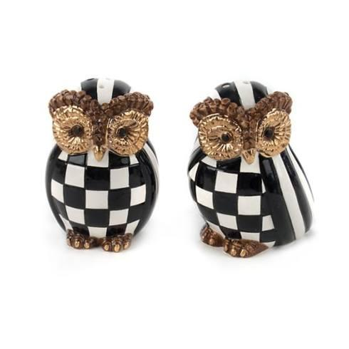 MacKenzie-Childs Owl Salt & Pepper Set collection with 1 products